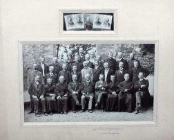 Rok 1887, Zjazd nauczycieli gimnazjum. W środku Franciszek Grzegorczyk, który w latach 1886-1891 był dyrektorem. W tym okresie uczył się tam Mojżesz Schorr.